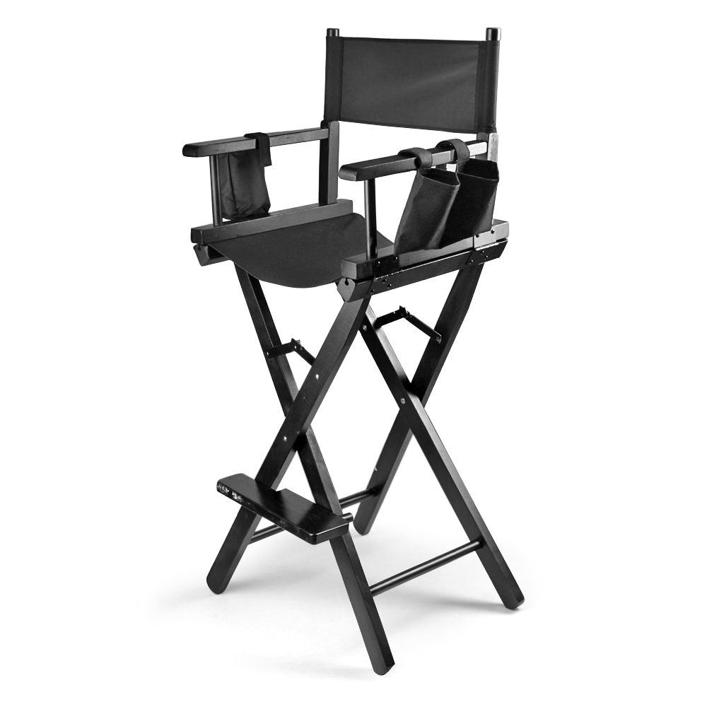 Merveilleux Makeup Chair Artist Directors Actor Wood Stool Professional Light Weight Bar  Height Seat Foldable With Storage