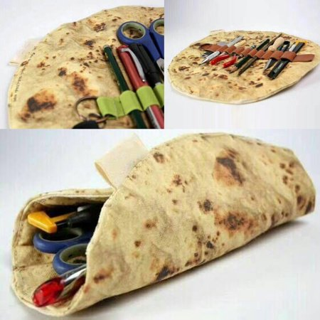 The Latest Imitation Pancake special Pizza Stationery Tool Rolled Collection Bag