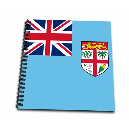 3dRose Flag of Fiji - island country in Melanesia - Union Jack on bright blue with coat of arms shield - Mini Notepad, 4 by 4-inch