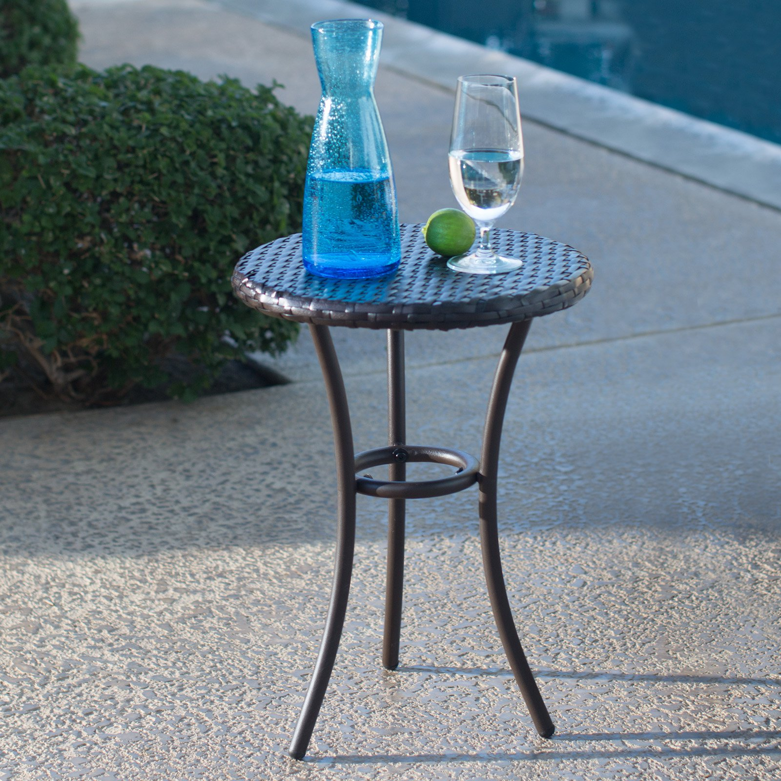 Coral Coast Berea All Weather Wicker Side Table by