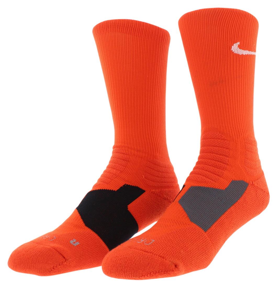 Nike Mens Hyper Elite Basketball Crew Socks Orange