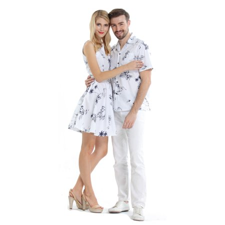 Couple Matching Hawaiian Luau Cruise Outfit Shirt Vintage Dress Classic (Best Hawaii Cruises 2019)