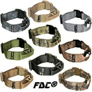 """HEAVY DUTY Military Army Tactical Dog Collar HANDLE Width 1.5in Plastic Buckle with TAG HOLE sz M: Neck 12"""" - 14"""""""
