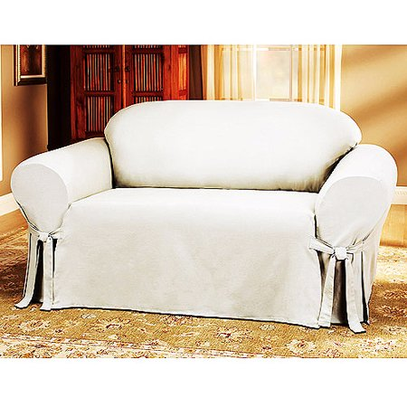 Mainstays Cotton Duck Loveseat Slipcover