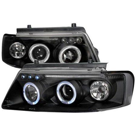 Halo LED Projector Headlight for 97 to 00 Volkswagen Passat, Black - 10 x 20 x 25 in. - image 1 of 1