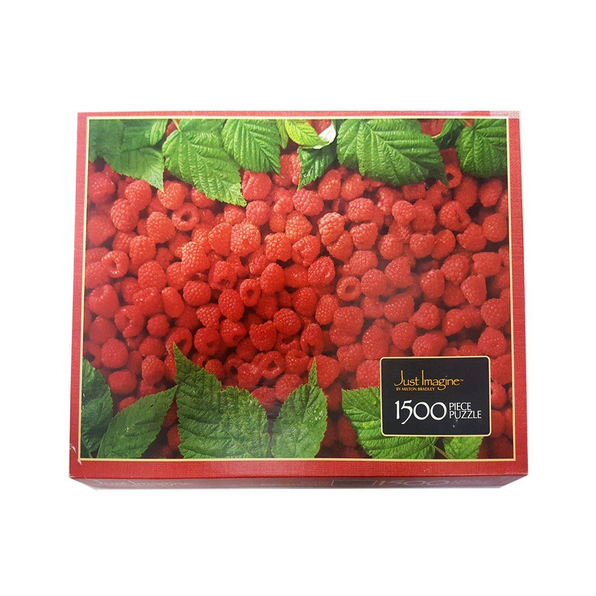 """Vintage 1985 Milton Bradley Just IMagine """"RAZZ-A-MA-TAZZ"""" Raspberries 1500 Piece Jigsaw Puzzle by Milton Bradley"""