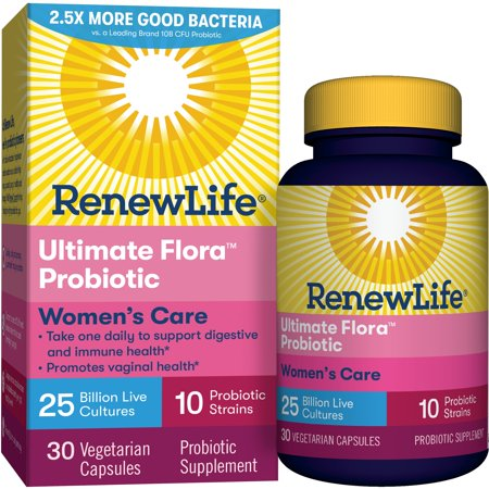 (2 Pack) Renew Life - Ultimate Flora Probiotic Women's Care - 25 billion - 30 vegetable capsules (Highest Rated Probiotics)
