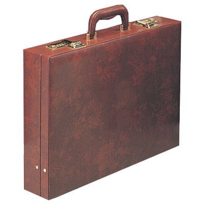 Goodhope  Burgundy Attache Briefcase 2' Slim Attache Case