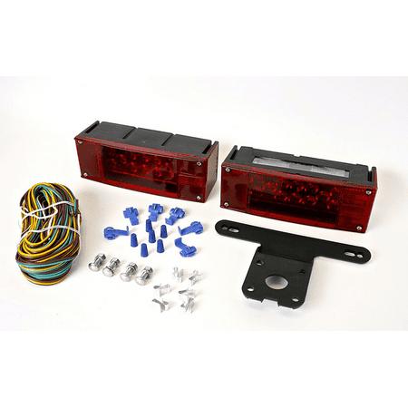 MaxxHaul 70468 12V LED Low Profile Submersible Rectangular Trailer Light Kit (Low Profile Light Kit)