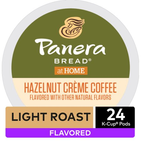 Panera Bread Hazelnut Crème Flavored Keurig K-Cup Coffee Pods, Light Roast, 24 Count