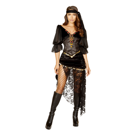 5Pc Gypsy Maiden Costume - Adult Gypsy Costume