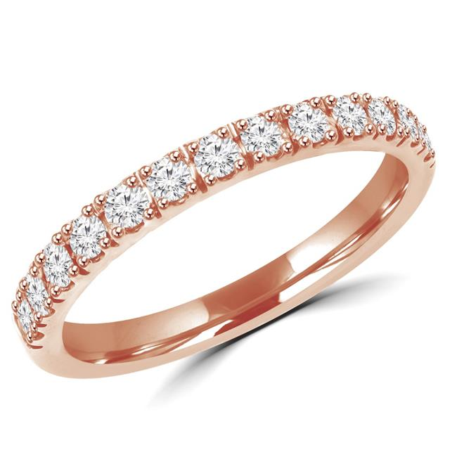 Majesty Diamonds MD160272-8 0.4 CTW Round Cut Diamond Wedding Anniversary Band Ring in 14K Rose Gold, Size 8 - image 1 of 1