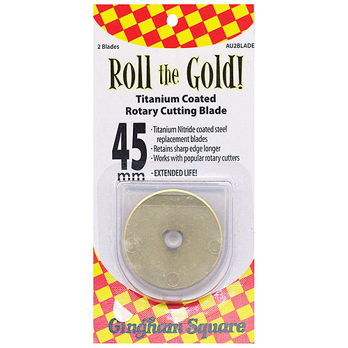 Roll the Gold! Titanium-Coated Rotary Cutting Blade, 45mm, 2-Pack