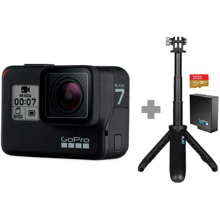 GoPro HERO7 Black HD Waterproof Action Camera Bundle (Black)