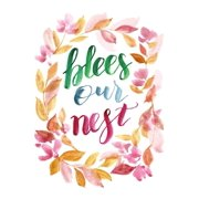 Bless Our Nest Motivational Artwork Decorations Home Wall Decor Posters, Small Signs - 7.5x10.5
