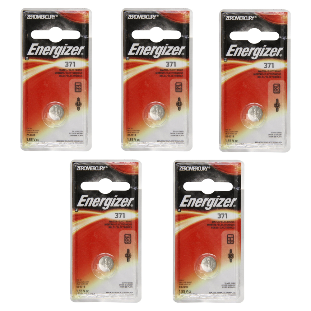 EVEREADY 371BP Energizer(R) Silver Dioxide Electronic Battery 1.5-Volt (5 pack)