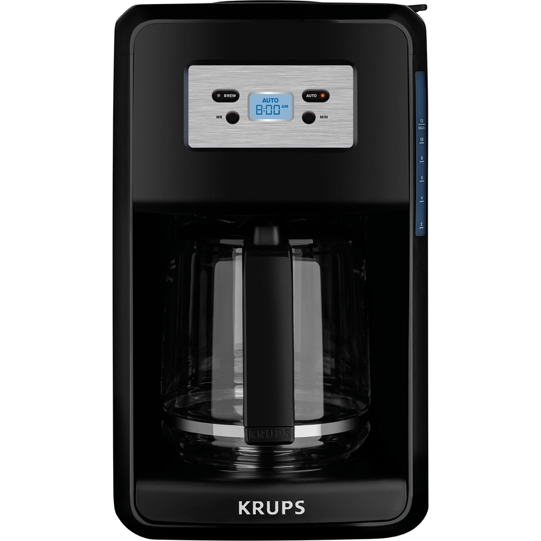 KRUPS 12-Cup Programmable Digital Coffee Maker, Black, Savoy EC311050
