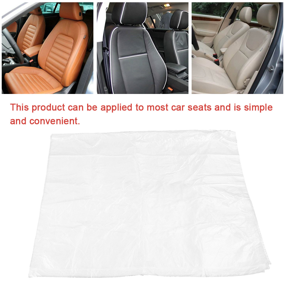 100Pcs Disposable Plastic Car Seat Protector Covers Mechanic Garage