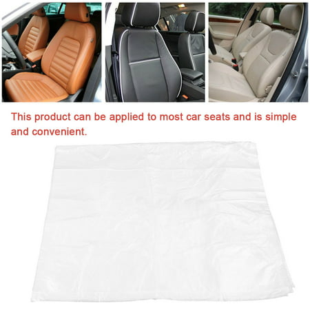 LAFGUR 100pcs Disposable Plastic Car Seat Covers Protectors Mechanic Valet Roll,Car Seat Covers, Plastic Seat Cover (Cruise Time Car Seat Cover)