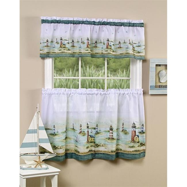 Hamptons Tier & Valance Set - 58 in. x 36 in. Tier Pair -58 in. x 13 in. Valance - image 1 of 1