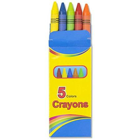 Bulk School Supplies Wholesale Lot Box of 96 Crayons 5 Color Pack (Wholesale Crayon)