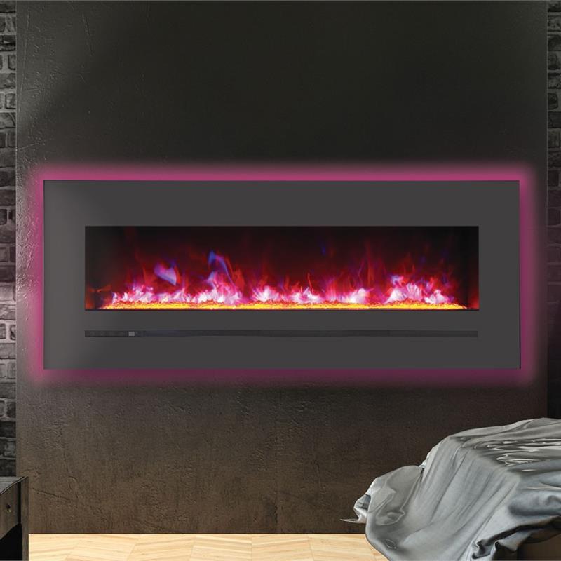 WM-FML-60-6623-STL Linear Electric Fireplace