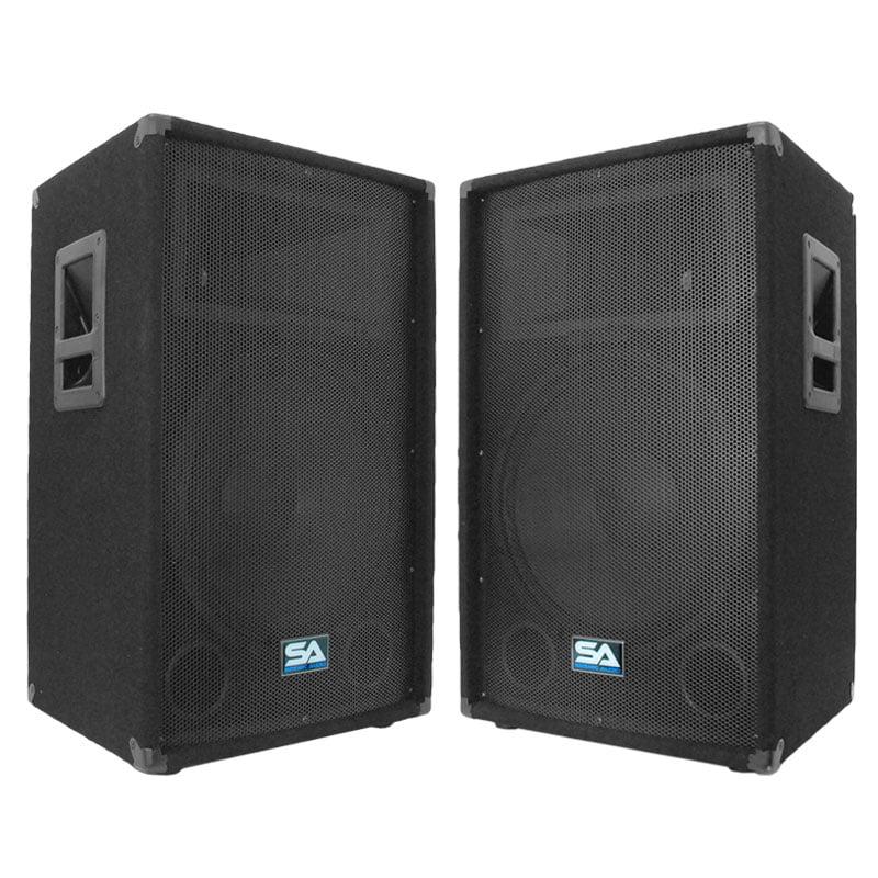 "Seismic Audio Pair 15"" PA DJ PRO AUDIO Speakers 700 W New Band Club - 15T"