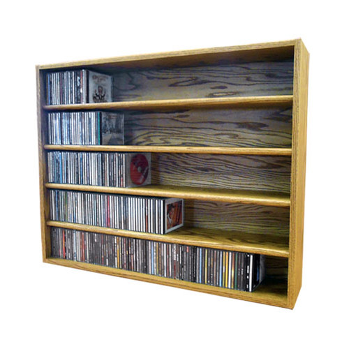 Perfect Wood Shed Multimedia Storage Rack