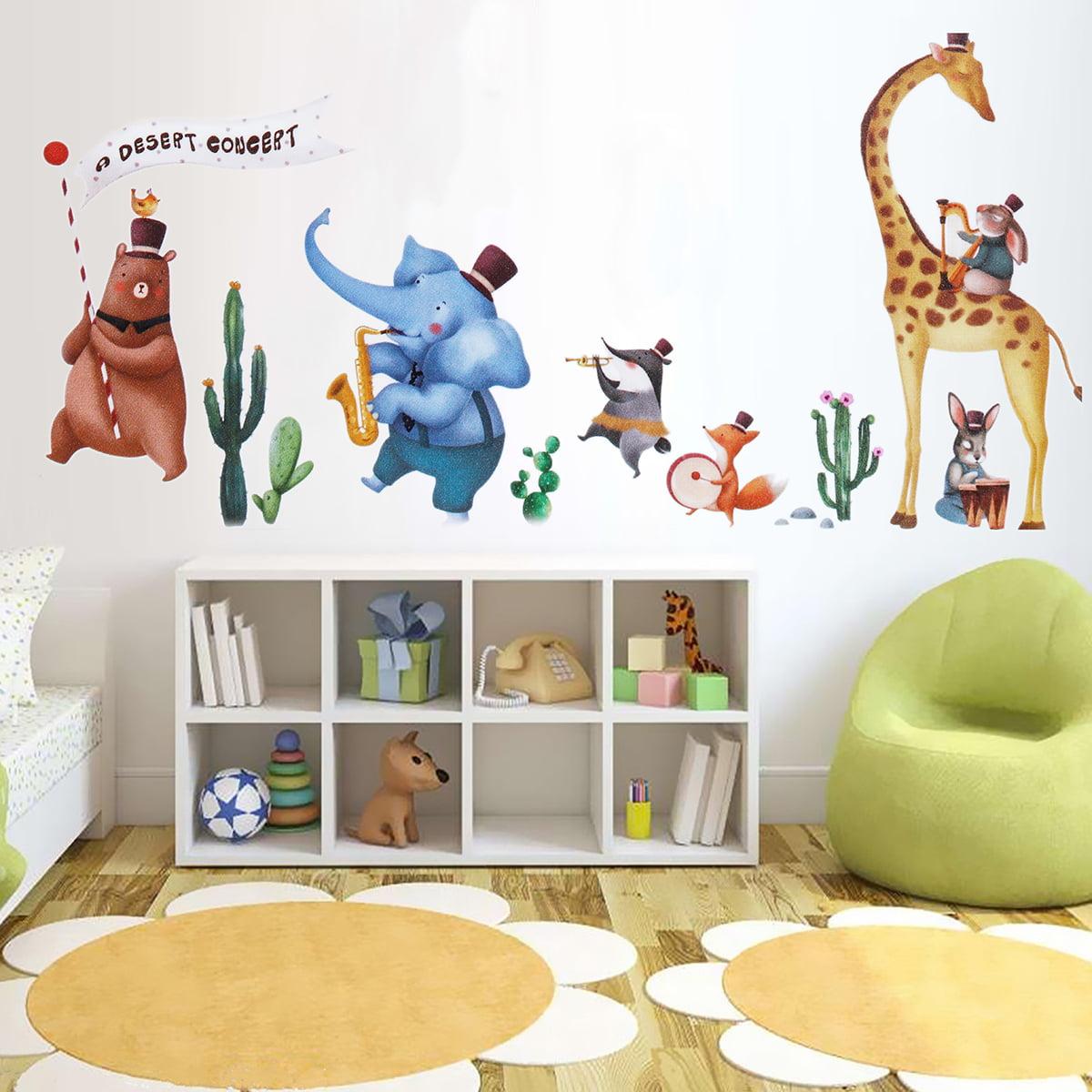 Cute Diy Wall Decals Elephant Animals Wall Sticker Decal Child Kids Nursery Baby Room Decor Removable Walmart Com Walmart Com