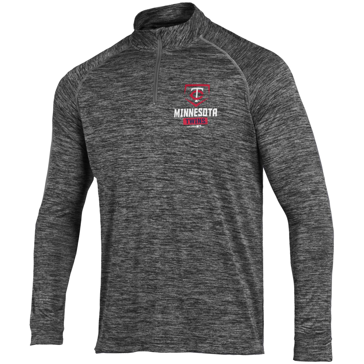 Minnesota Twins Under Armour Tech Quarter-Zip Performance Pullover - Charcoal