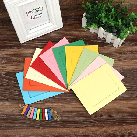 10pcs Colorful Paper Photo DIY Wall String Clip Picture Hanging Album Frame Party Decorations - image 3 of 6