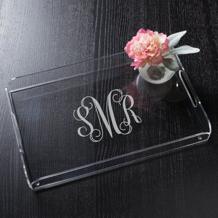 Personalized Acrylic Serving Tray - Monogram