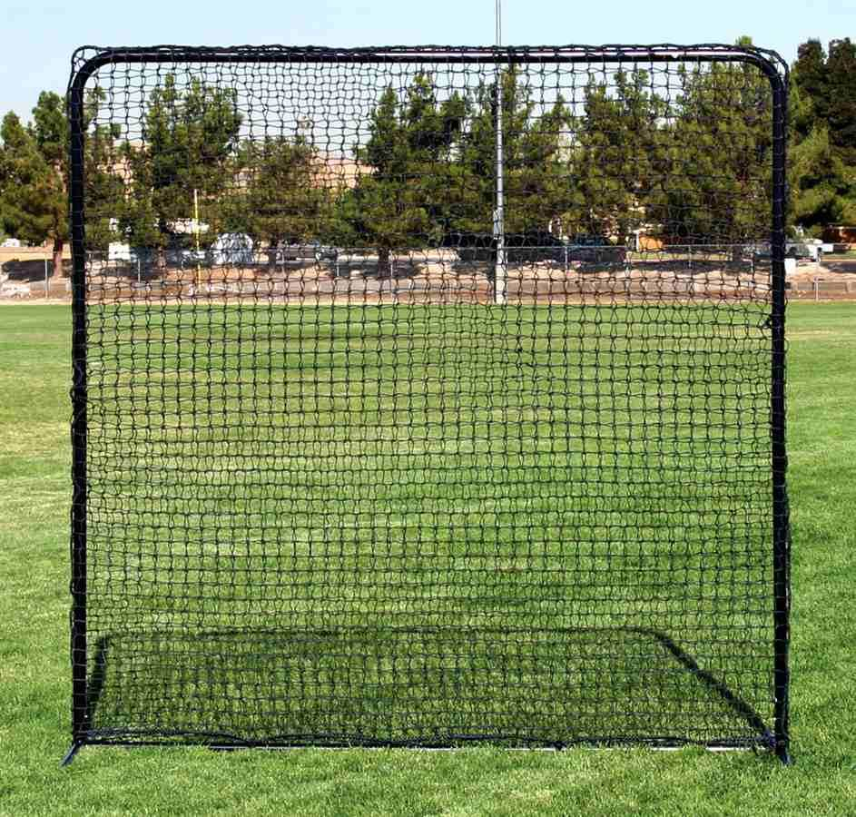 Portable Square Practice Net w Tubular Steel Frame