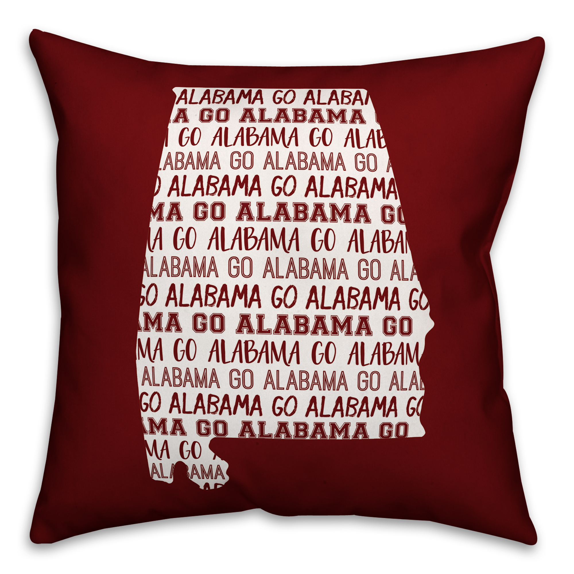 Red Alabama Go Team 16x16 Spun Poly Pillow