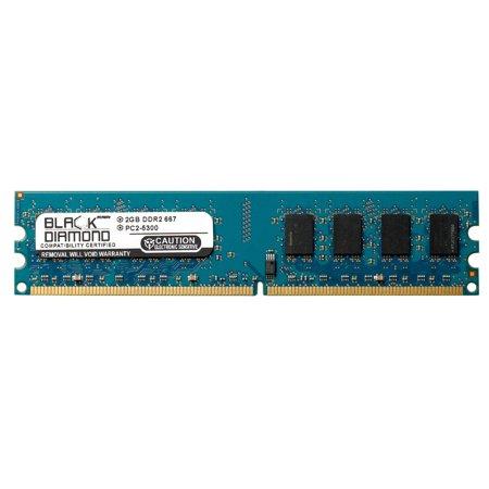 2GB Memory RAM for ECS 946 Series 946GTY-M, 946GZT-M2 240pin PC2-5300 667MHz DDR2 DIMM Black Diamond Memory Module - 946 Series