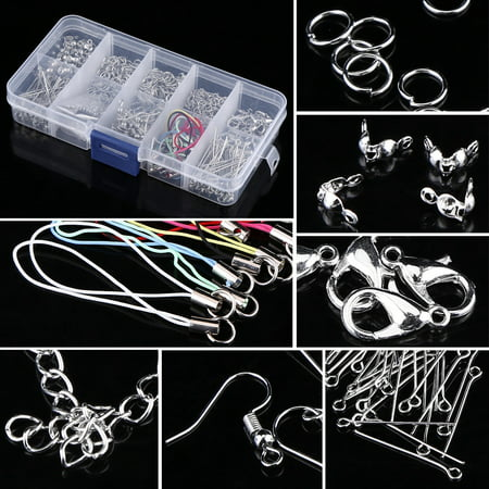Jewelry Making Kits Set Head Pins Chain Beads Craft Accessories With Box, Jewelry Findings, Craft Making Supplies (Charm Beads Findings)