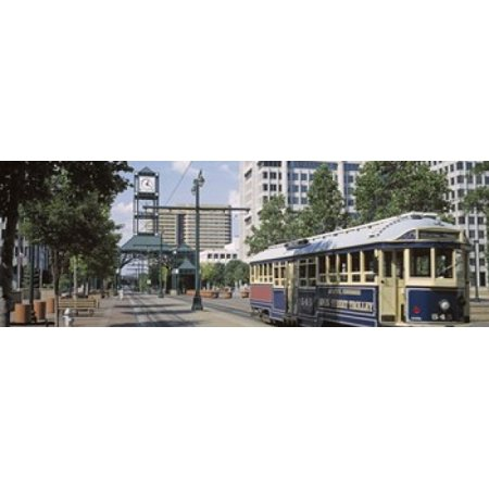 - View Of A Tram Trolley On A City Street Court Square Memphis Tennessee USA Poster Print