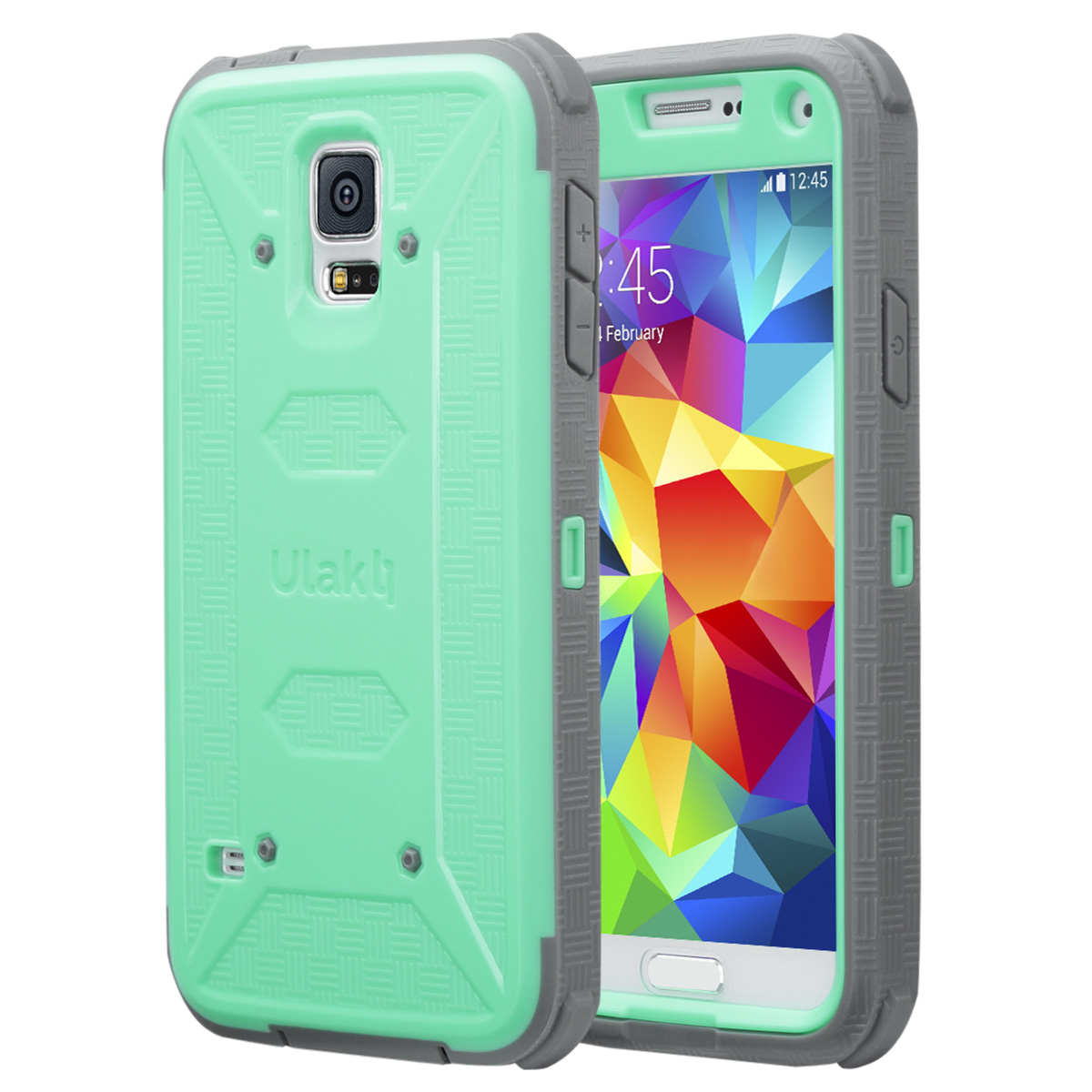 Galaxy S5 Case, ULAK [KNOX Armor] Rugged Shock Absorbing Dual Layer Protective Case Cover for Samsung Galaxy S5 (2014)