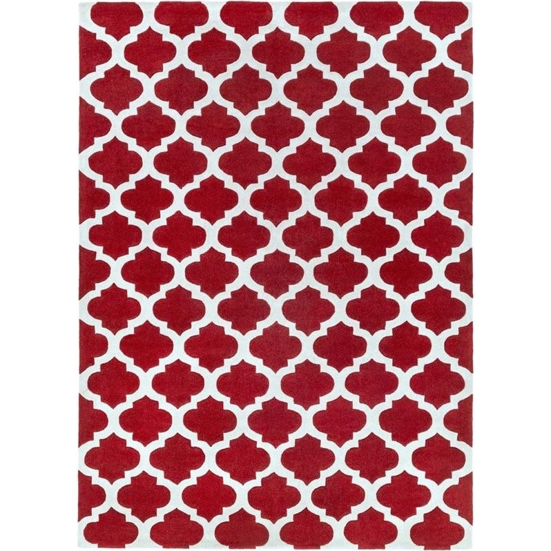 Surya Cosmopolitan 9' x 13' Hand Tufted Rug in Red