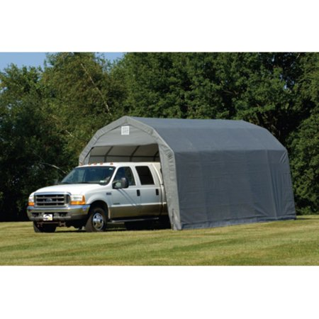 12 X 28 X 11 Barn Style Shelter  Gray