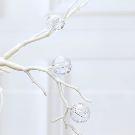 Efavormart 108 PCS  Acrylic Crystal Garland Hanging Wedding Party Decoration Clear Ball Design