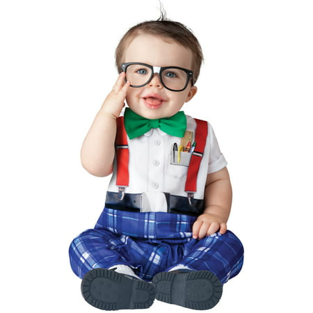 Baby Infant Halloween Costume  - Nursery Nerd Costume 6-12 months - A Cute Nerd For Halloween
