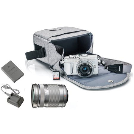 Olympus PEN E-PL9 Mirrorless Micro Four Thirds Digital Camera [White] + M.Zuiko Digital ED 14-42mm f/3.5-5.6 EZ Lens (Silver) + M.Zuiko Digital ED 40-150mm f/4.0-5.6 R Lens (Silver)