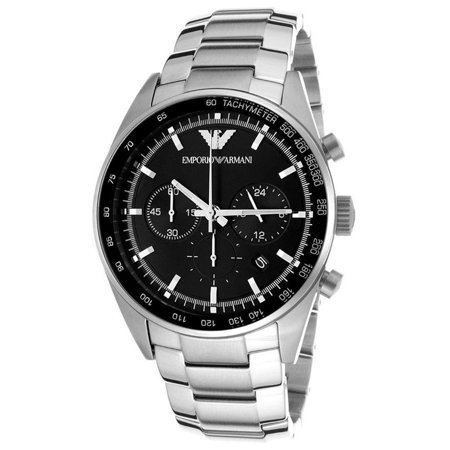 hot products hot sale online order Emporio Armani Men's Sportivo AR5980 Black Stainless-Steel Quartz Watch