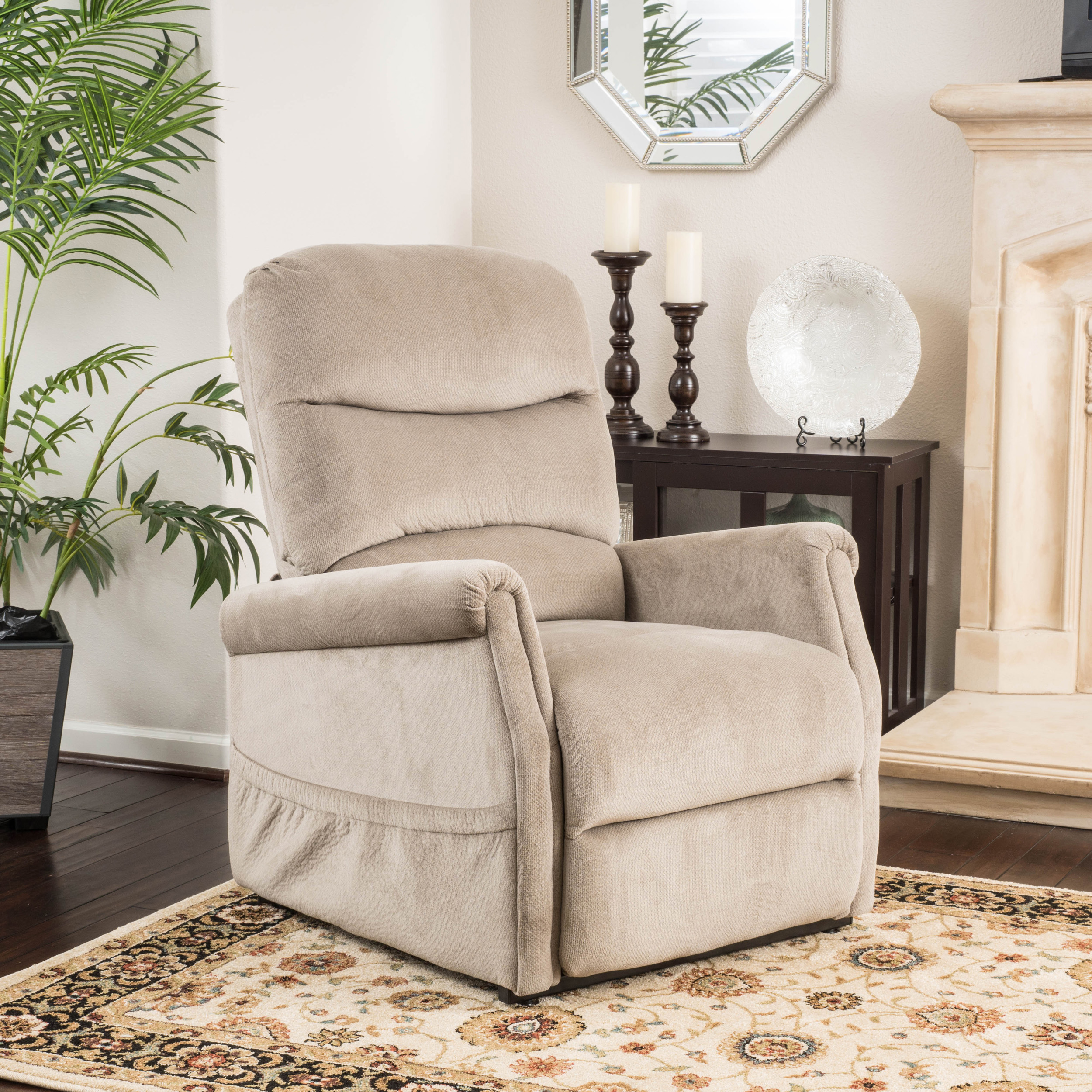 Noble House Fabric Lift Up Chair,Latte