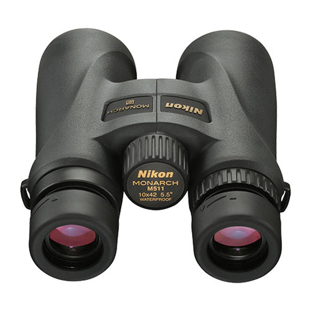 Nikon 7577 Monarch 5 10x42 ATB Premium ED Glass Central Focus Binoculars, Black