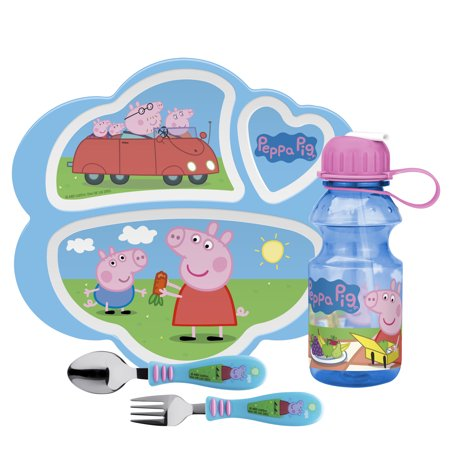 4PC PEPPA PIG DINNERWARE AND DRINKWARE SET