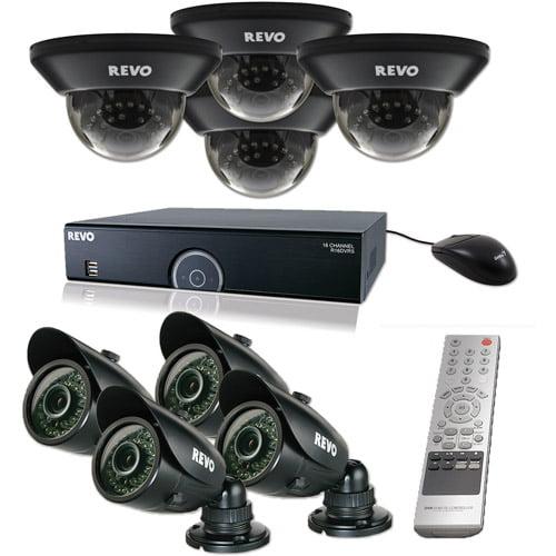 Revo 16-Channel 2TB 960H DVR Surveillance System with Eight 700TVL 100' Night Vision Cameras
