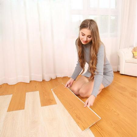 Self Adhesive 6 Tile Art DIY Wood Floor Wall Sticker art Kitchen Living Room - Diy Wood Wall Art