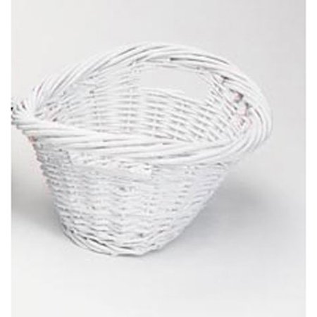 Darice White Small Willow Laundry Basket, 16 Inches ()